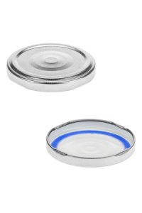 TO  63 silber mit Button past. BLUESEAL
