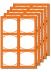 Cubi Etikettenbogen orange, 5 Blatt