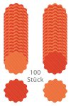 Wende-Deckchen aus Folie Ø 150 mm, Punkte orange, 100er Pack