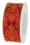 Stoffband Paradise 20 m, 40 mm rot/orange