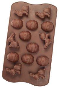 Schokoladenform Osterei und Hase Silikon