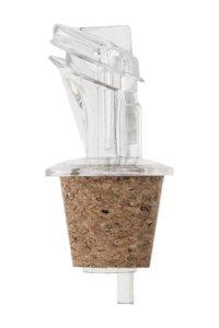 Ausgießerkorken Kunststoff mit Schutzklappe 18 mm