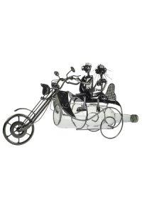 Wein-Flaschenhalter Pärchen auf Motorrad