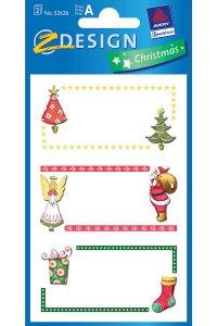 Weihnachtsetiketten Weihnachtsmotive beglimmert