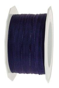 Stoffband  25 m, 10 mm Lyon pflaume