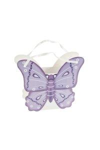 Geschenktasche Schmetterling lila, 12 x 3,5 x 10 cm