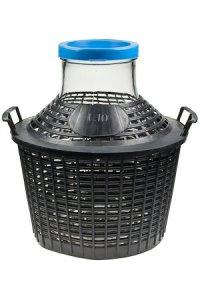 Weithals-Glasballon 10000 ml im Plastikkorb