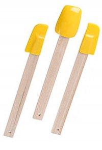 Schaber-Set Silikon - 3-teilig gelb