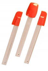 Schaber-Set Silikon - 3-teilig rot