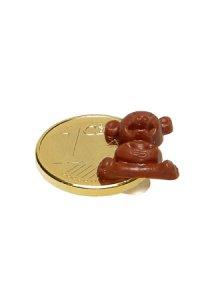 Vergoldeter Cent zum Aufkleben Bär