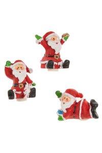 Miniaturen zum Aufkleben Weihnachtsmann - 3er Set