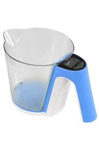 Messbecher-Küchenwaage blau