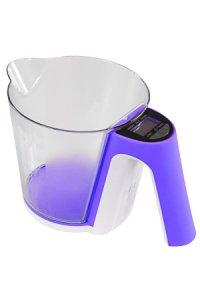 Messbecher-Küchenwaage lila