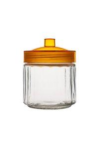 Vorratsglas 0,9 Liter, Deckel orange