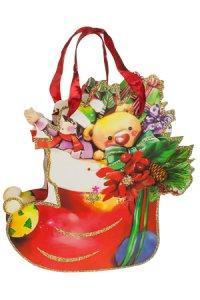 Deko-Geschenktasche Weihnachtsstrumpf