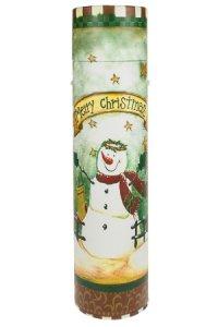 Flaschenbox Merry Christmas grün