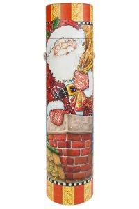 Flaschenbox Weihnachtsmann und Elch