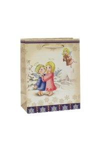 Geschenktüte Engel in Winterlandschaft, 11,5 x 6 x 14,5 cm