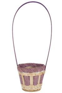 Henkelkorb Bambus/Papier lavendel