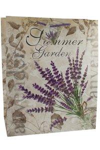 Geschenktasche Summer Garden Lavendel, 27 x 14 x 33 cm