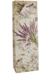 Flaschentasche Summer Garden Lavendel, 12,5 x 8 x 36 cm