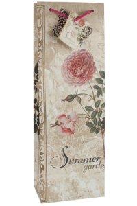 Flaschentasche Summer Garden Rosen, 12,5 x 8 x 36 cm