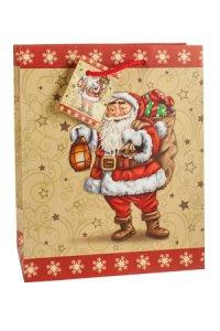 Geschenktüte Nikolaus mit Laterne, 18,5 x 10,5 x 23 cm