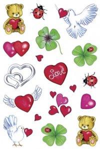 2D Sticker Glück & Herz
