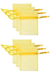 Chiffonbeutel sonnengelb  9 x 12 cm - 6er Pack