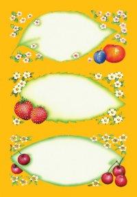 Schmucketiketten Blätter & Früchte