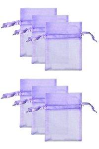 Chiffonbeutel flieder  9 x 12 cm - 6er Pack