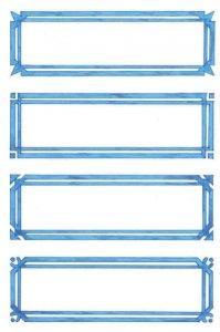 Schmucketiketten Blauer Rahmen