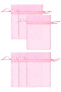 Chiffonbeutel rosa 12 x 17 cm - 6er Pack