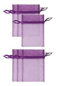Chiffonbeutel lila 12 x 17 cm - 6er Pack