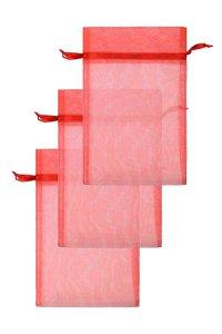 Chiffonbeutel rot 15 x 24 cm - 3er Pack
