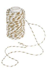 Baumwollkordel 25 m, 2 mm weiß/braun