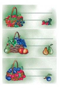 Schmucketiketten Früchtekörbe