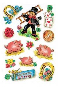 Schmucketiketten Glückssymbole