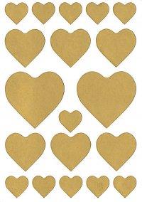 Schmucketiketten Herzen gold