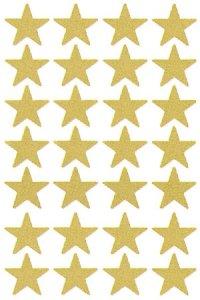 Weihnachtsetiketten Goldene Sterne 13 mm