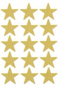 Weihnachtsetiketten Goldene Sterne 22 mm