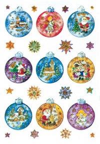 Weihnachtsetiketten Weihnachtskugeln beglimmert