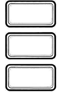 Etiketten Schwarzer Rahmen