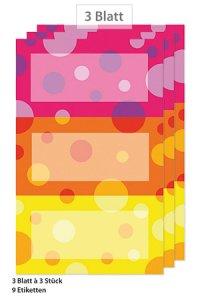 Etiketten Rahmen in 3 Farben