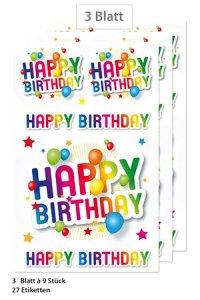 Schmucketiketten Happy Birthday