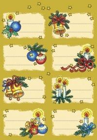 Weihnachtsetiketten Zweige