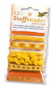 Stoffbänder gelb & orange