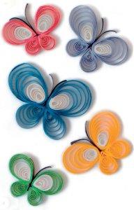 Schmucketiketten Schmetterlinge Quilling