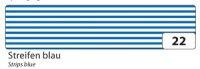 Washi-Tape Streifen blau, 15 mm x 10 m