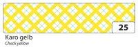 Washi-Tape Karo gelb, 15 mm x 10 m